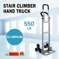 Aluminum Hand Trolley Stair Climbing Truck Folding U-Loop Handle ...