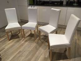 4 Dining Chairs White Upholstered IKEA HARRY Modern Kitchen Seats Machine  Washable Covers Comfy | In Lewisham, London | Gumtree Us Fniture And Home Furnishings Living Roomstudy In Parsons Chairs Ikea Dning Seat Covers For Ikea Henriksdal Chair Cover Linneryd Natural Room Finnsta Turquoise Sofa Single Bedroom Solid Wood Ding Room Table Surprising Ebay Uk With Tablecloth And Trestle Sets Ikea Armchair Mono Co Bar Stools All Height Kitchen Island Highchair The Cotton Poang Cover Replacement Is Custom Made For Armchair Slipcover Only Blue Design Make Your A More Comfortable Windsor