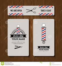 Barber Shop Hair Design Ideas by Hair Salon Barber Shop Business Card Design Template Set Stock