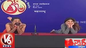 Shilpa Shetty Performs Yoga With Baba Ramdev