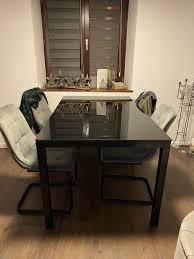 glastisch esszimmer tisch schwarz