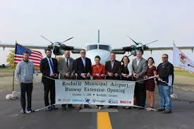 city celebrates airport runway expansion project city of
