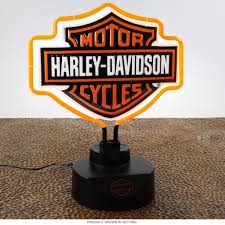 Harley Davidson Bar And Shield Neon Table Lamp D