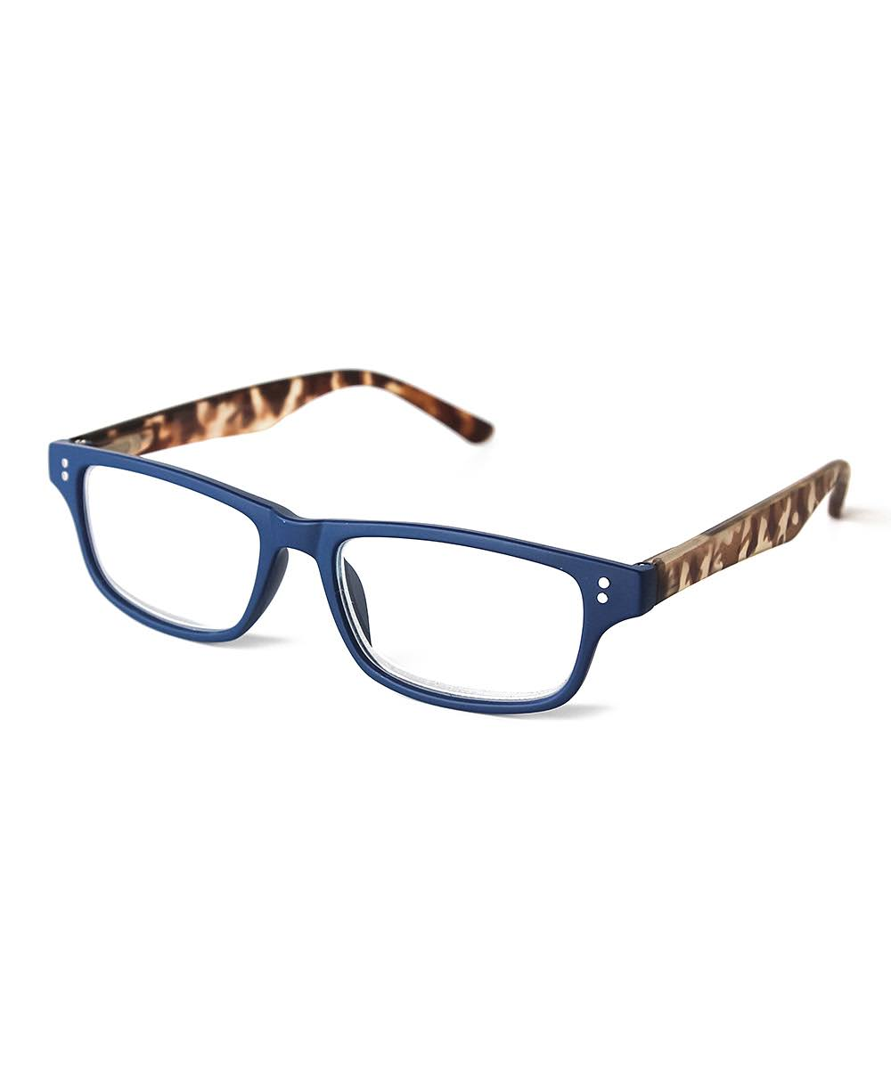 Optimum Womens Tortoise Brown & Blue Reading Glasses