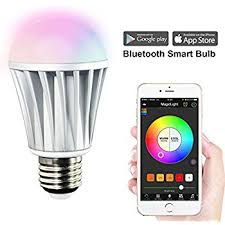 bluetooth smart led color changing dimmable light bulb rgb a19 e26