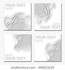 3d Abstract Paper Cut White And Graybackground Vector Rectangle Template In Carving Art Style