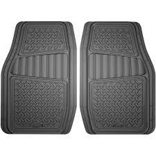 100 Truck Floor Mat Armor All 2Piece Grey Rubber Interior SUV Walmartcom