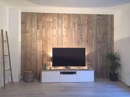 tv wall holzwand wohnzimmer holzwand einrichtungsideen