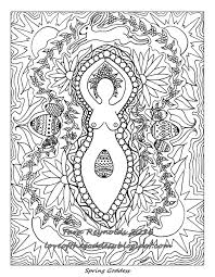 Goddess Coloring Page Printable Pages Ostara Art Spring