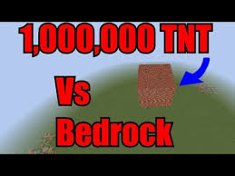 Minecraft 1 000 000 TNT Vs BedRock