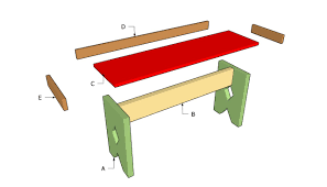 Building A Simple Wood Desk by Simple Bench Plans Myoutdoorplans Free Woodworking Plans And
