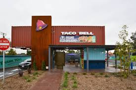 100 Shipping Containers California Taco Bell Drops A Weird New DriveThru Restaurant In LA Eater LA