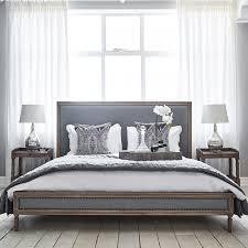 Boston Bed King Size Grey Linen
