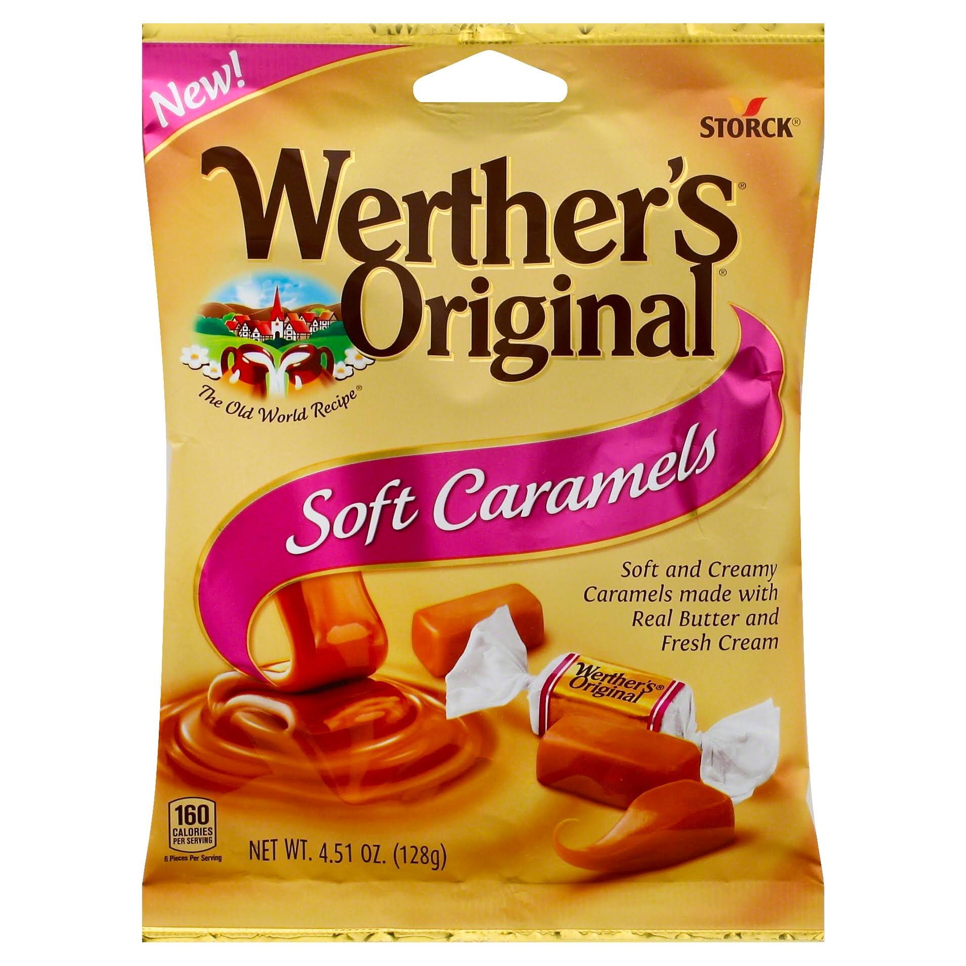 Werther's Original Soft Caramels - 128g