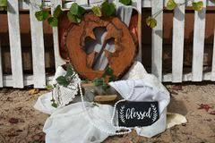 Outdoor Rustic Wedding Decorations Royalty Free Stock Photos