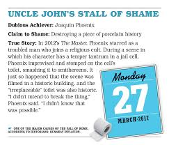 Uncle Johns Bathroom Reader Facts by Uncle John U0027s Bathroom Reader Page A Day Calendar 2017 Bathroom