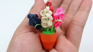 Diy Quilling Miniature 3d Flower Pot How To Make With Paper Made By Flowers Healthy