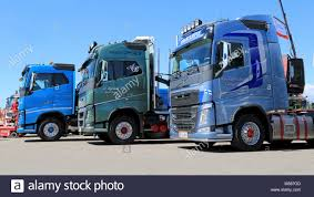 PORVOO, FINLAND - JUNE 28, 2014: Three New Euro 6 Volvo FH Trucks On ... Trucks To Drive With Current Collectors On A Public Road For The New Chevrolet 2014 Elegant Silverado Black Ops Gmc Trucks Related Imagesstart 100 Weili Automotive Network High Country And Gmc Sierra Denali 1500 62 2015 Chevy Hd Debuts At Denver Auto Show Toyota Tundra Pickup Youtube Dodge Ram Awesome Bds Product Announcement 225 Colorado Designed Active Liftyles Brand New Intertional Prostar 122 Semi Truck In Kentucky May Was Gms Best Month Since 2008 Just As Up Close Look Cats New Class 8 2017 Albany Ny Depaula