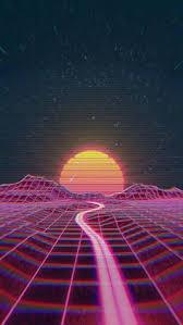 Cosmic Art Retro Waves Graphics