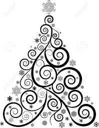 ORNATE SWIRL CHRISTMAS TREE AND SNOWFLAKES Royalty Free Cliparts Vectors And Stock Illustration Image 29670530