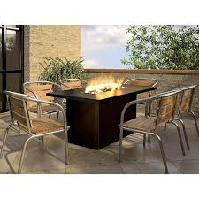 firegear key west outdoor gas pit dining table with