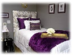 Purple And Gold Dorm Room