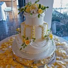 Yellow and White Wedding Cakes Beautiful