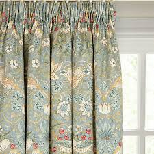 buy morris co strawberry thief lined pencil pleat curtains