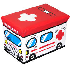 100 Fire Truck Kids Red Folding Storage Box Toys Clothes Books Nursery Bed