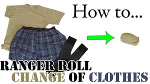 army hack ranger roll a day u0027s change of clothes efficient
