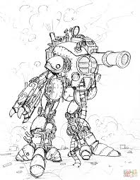 Steampunk Giant Robot With A Big Cannon