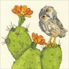 100 Robbin Rawlings Dimensions Counted Cross Stitch Kit 6X6 Prickly Owl