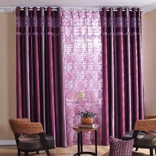 attractive printing living room or bedroom curtains in purple
