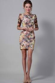 Floral Print Dresses With Sleeves Re