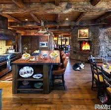 Log Cabin Kitchen Island Ideas by Log Cabin Kitchen Design Ideas Cabinet Images White Pinterest