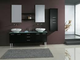 Unfinished Bathroom Wall Cabinets by Bathroom Furniture Bathroom Black Steel Frame Floating Mirror On