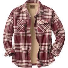 legendary whitetails men u0027s fleece lined button down java shirt jac