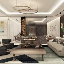 geräumige wohnzimmer mit marmorboden ideen design bilder