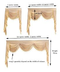 Curtain Valance Swag Lambrequin For Living Dining Room Bedroom Luxury Style Window European Royal In Curtains From Home Garden On