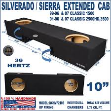 100 Truck Subwoofer Box Chevy Silverado GMC Sierra Ext Extended Cab 10 Sub