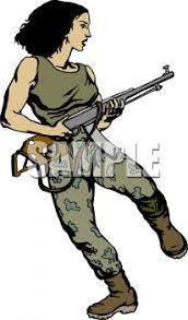 Female Guerrilla Soldier