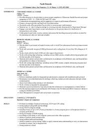 Medical Coder Resume Samples