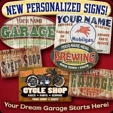 Personalized Vintage Garage Signs 35 Best Personalized Garage