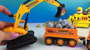 Long Kids Video With Construction Toy Trucks Mighty Machines Playdoh ...
