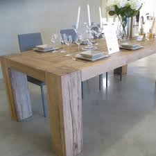 Brooklyn Solid Oak Dining Table With Column Legs