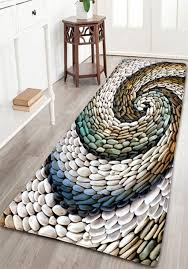 Bathroom Flannel Whirlwind Pebbles Printed Skidproof Rug Home Decor StoreHome CatalogsHome OnlineInexpensive