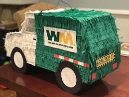100 Rubbish Truck I Turned A Car Piata Into A Garbage Truck Garbage Birthday