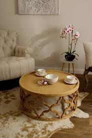 casa padrino designer couchtisch naturfarben ø 80 x h 37 cm moderner runder holz wohnzimmertisch