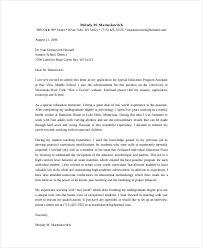 Program Aide Cover Letter] 92 images teacher cover letter