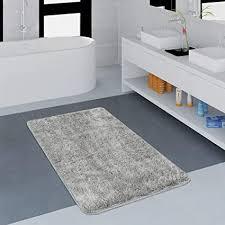 paco home badezimmer teppich einfarbig kuschelig gemütlich in versch größen u farben grösse 80x150 cm farbe grau